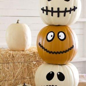 Детский декор тыквы на Хэллоуин 5