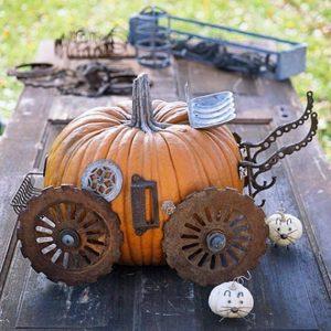 Фигурки из тыквы для Хэллоуина 1