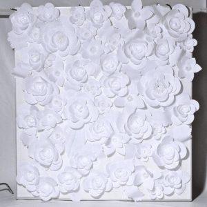 Бумажный цветочный стенд 3