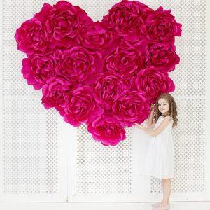 большие бумажные цветы в киеве