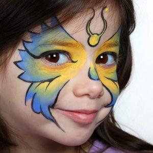 детский аквагрим на хэллоуин 3