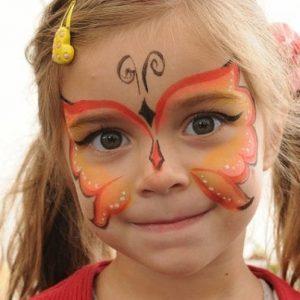 детский аквагрим на хэллоуин