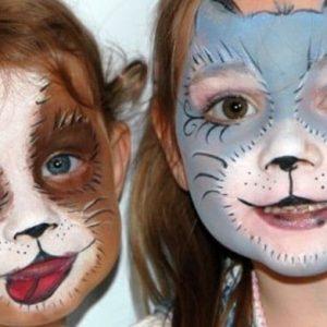 детский аквагрим на хэллоуин 4