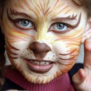 детский аквагрим на хэллоуин 5