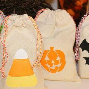 Стильный декор эко-сумки на Halloween 1