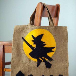 Стильный декор эко-сумки на Halloween 4