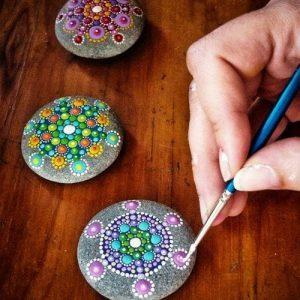 точечная роспись камня для начинающих в киеве 2