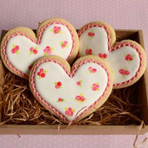 Валентинки-печенье на 14 февраля 2