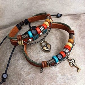кожаные браслеты для мужчин своими руками