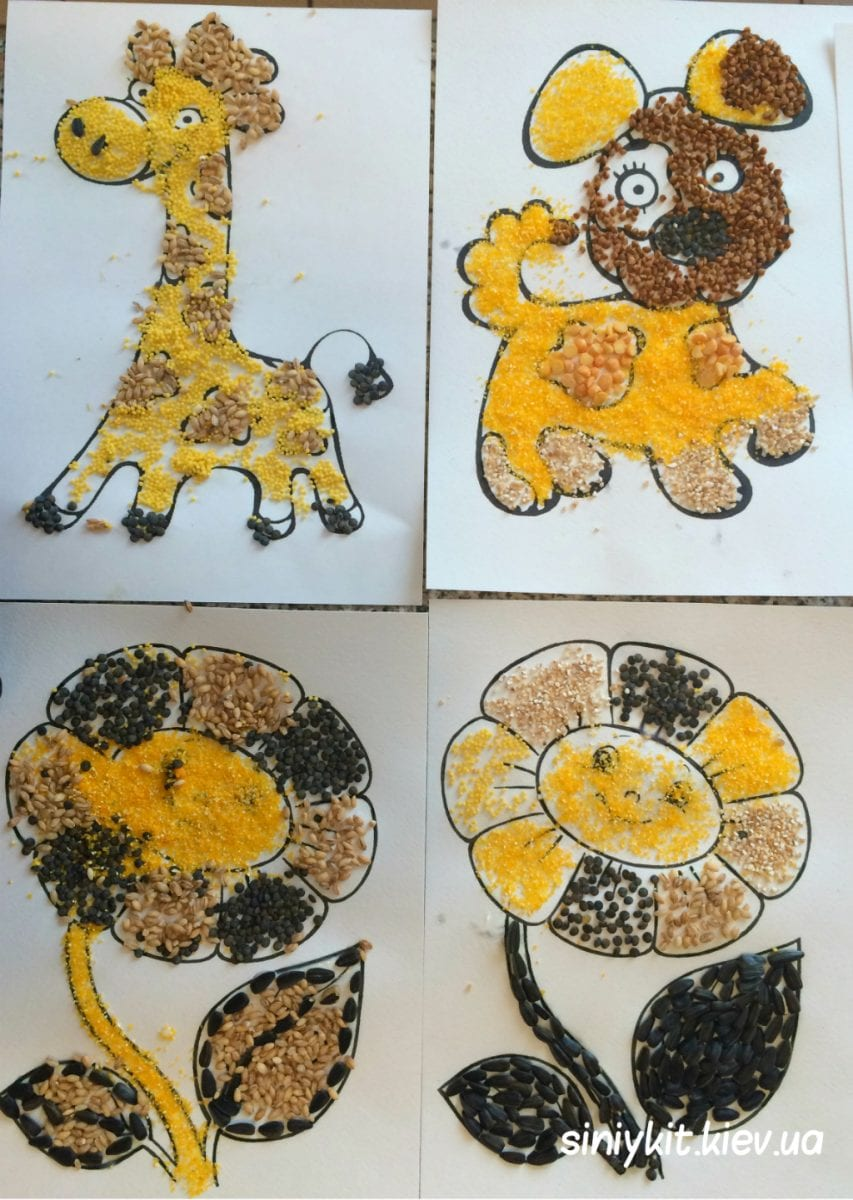 Днем, картинки с крупами для детей