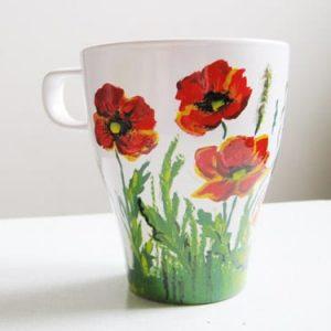 роспись чашки на день влюбленных