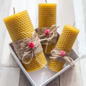 Медовые свечи - эко свечи из вощины