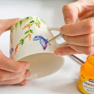 роспись керамической посуды мастер-класс