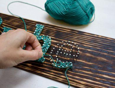 Мастер-класс Стринг арт (string-art) своими руками
