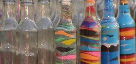 Sand Bottle - рисунки цветным песком в бутылке