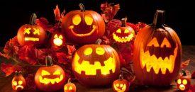 фонарь из тыквы на Хэллоуин