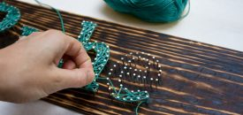 мастер-класс стринг-арт String Art на выезде в Киеве 5